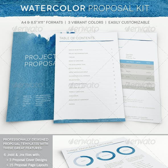 Watercolor Professional Proposal Kit