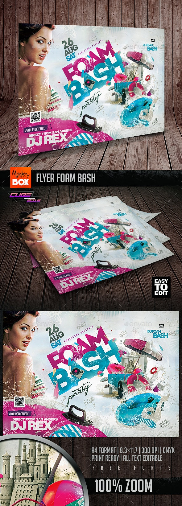 Flyer Foam Bash - Clubs & Parties Events