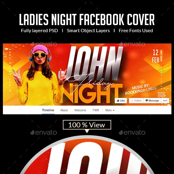 Ladies Night Out   Facebook Cover
