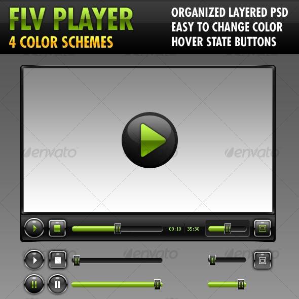 FLV Player (4 color schemes)
