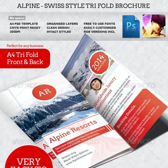 Alpine Swiss Trifold Brochure Template