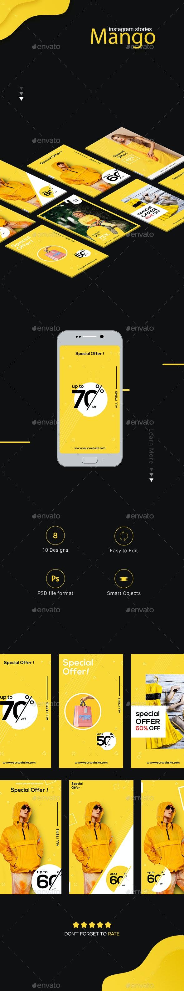 Mango Instagram Series - Social Media Web Elements