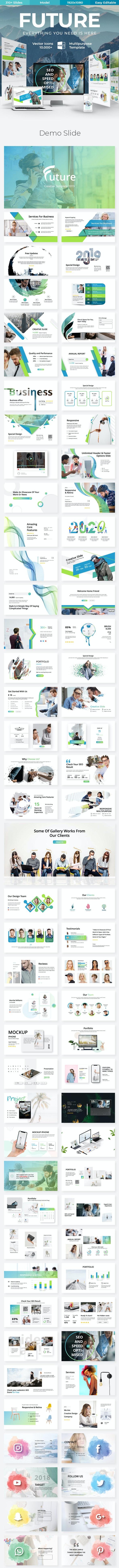 Future Creative Premium Google Slide Template - Google Slides Presentation Templates