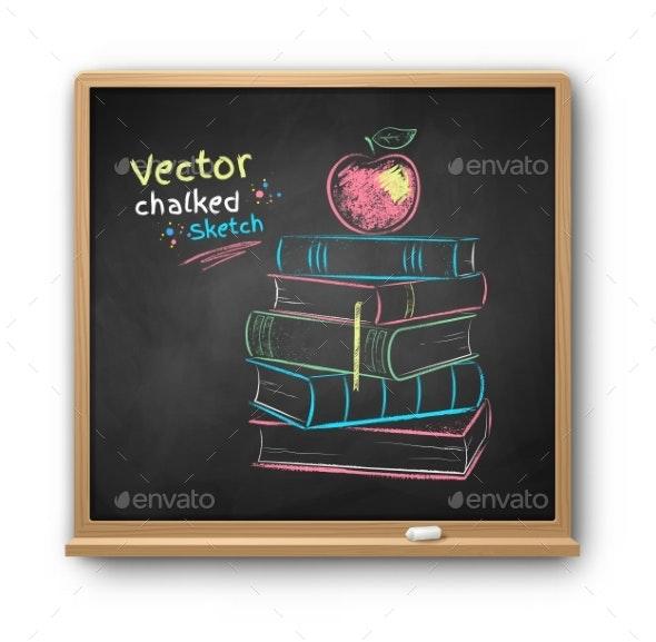 Vector Chalk Drawn Illustration - Miscellaneous Vectors