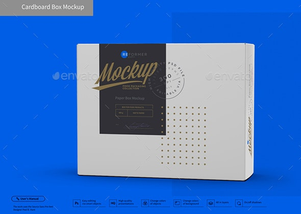 Cardboard Box Mockup - Packaging Product Mock-Ups