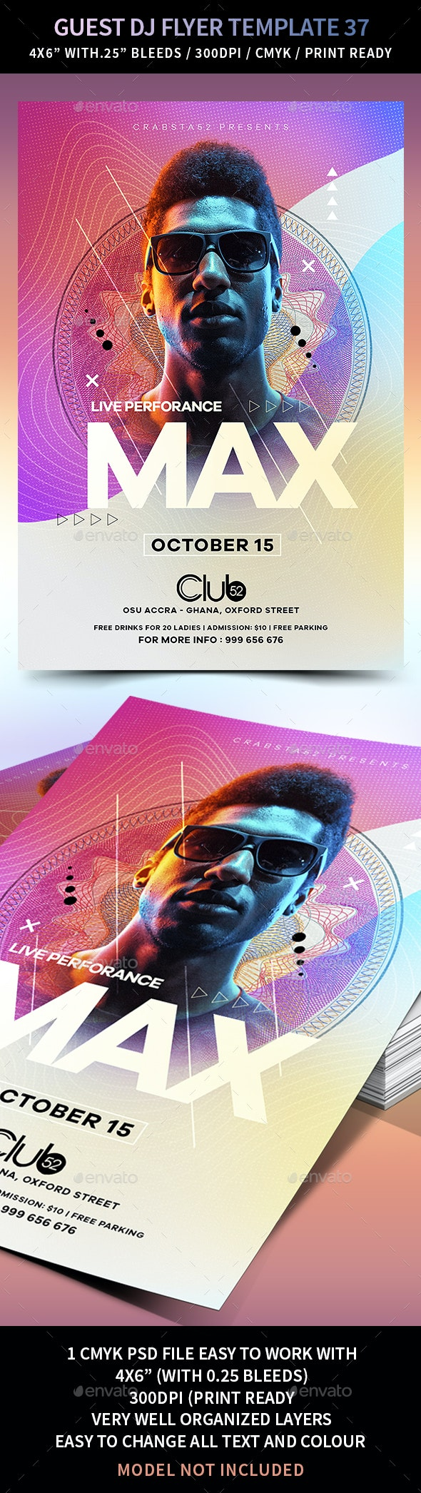 Guest DJ Flyer Template 37 - Events Flyers