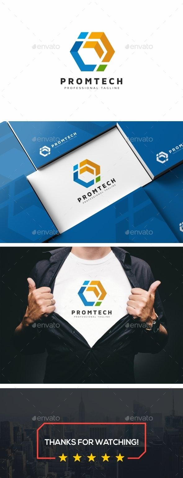 Promtech - Hexagon Logo Template - Logo Templates