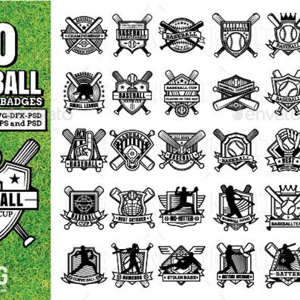 30 Baseball logos and badges