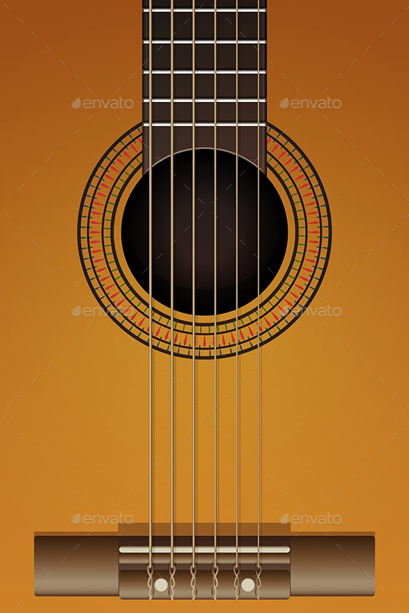 Close Up of Guitar - Man-made Objects Objects