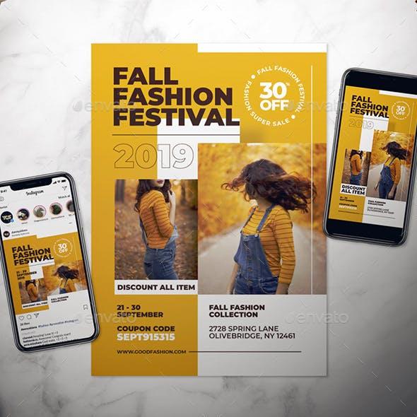 Fall Fashion Flyer Set