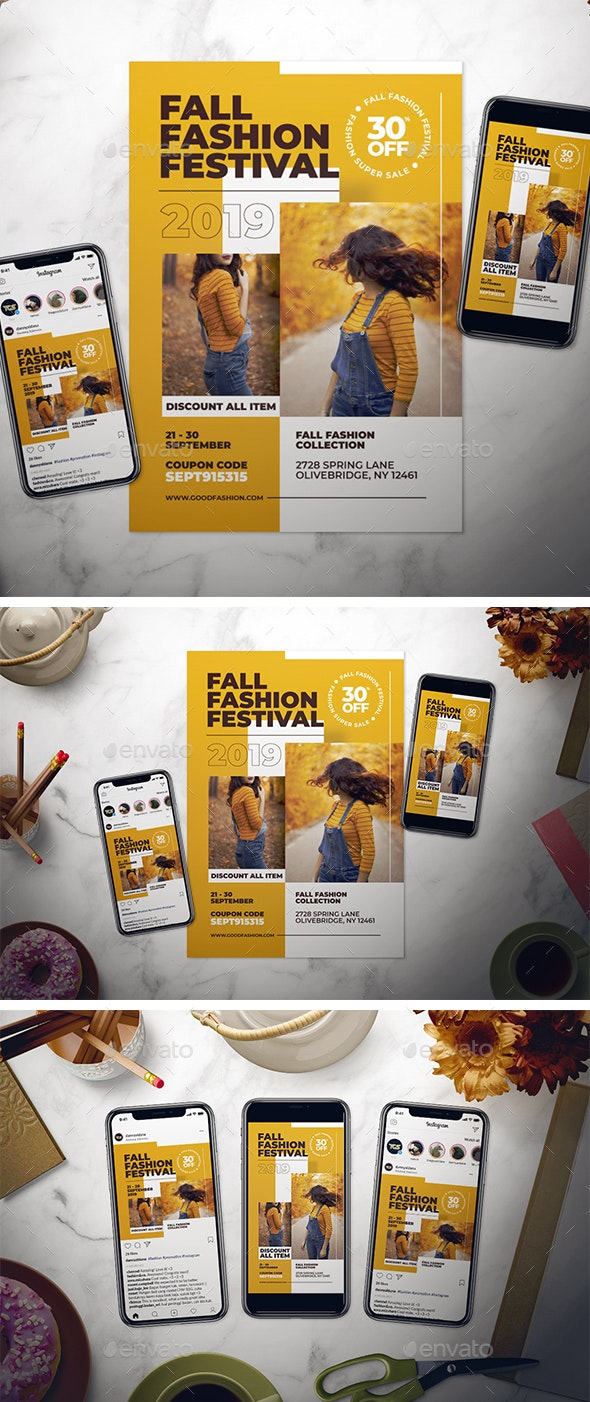 Fall Fashion Flyer Set - Events Flyers