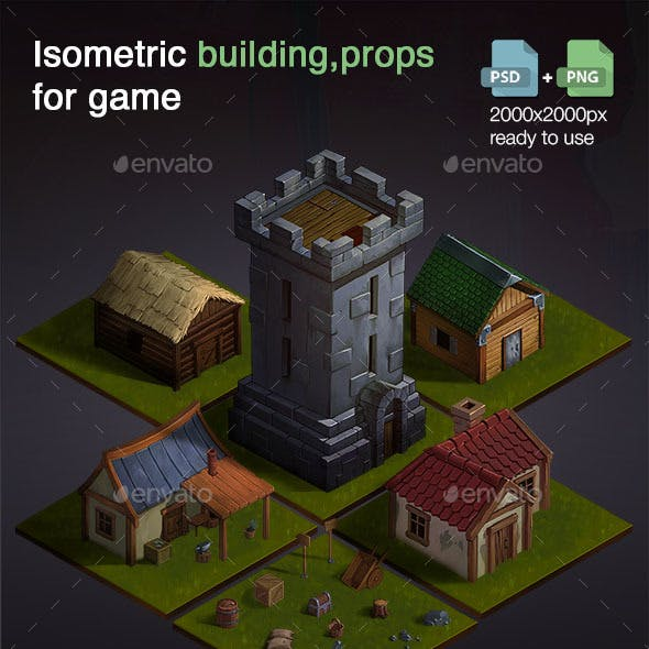 Isometric Buildings for Game