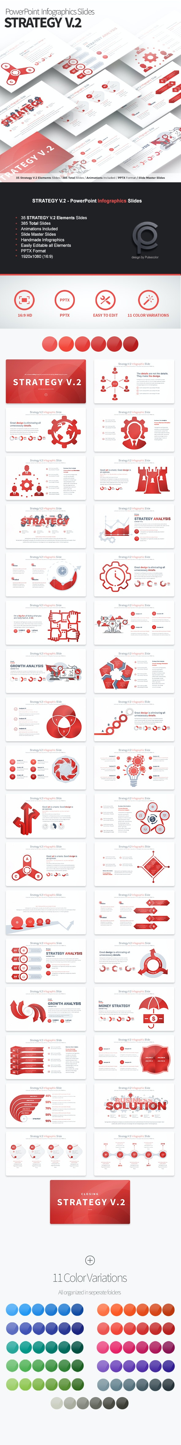 Strategy V.2 - PowerPoint Infographics Slides - Business PowerPoint Templates