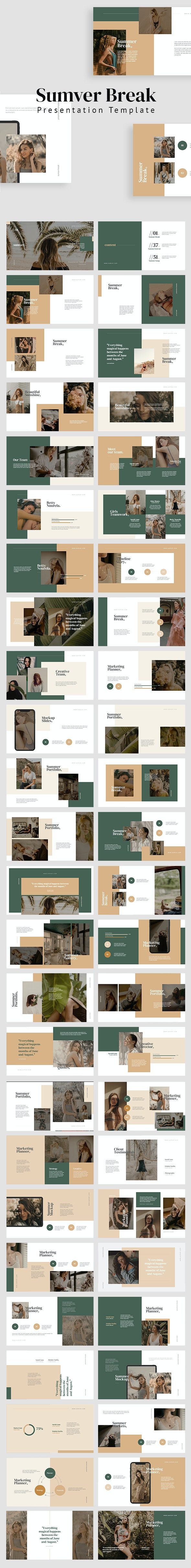 Sumver Break Powerpoint Template - Nature PowerPoint Templates