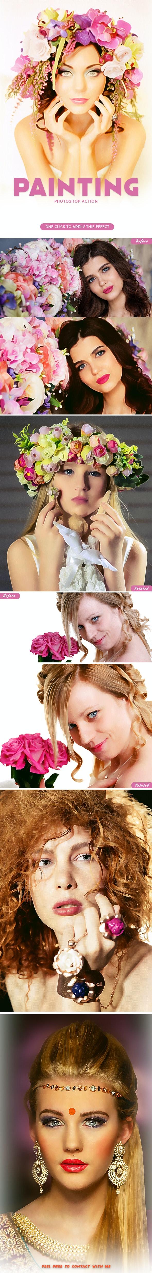 Paint Photoshop Action - Actions Photoshop