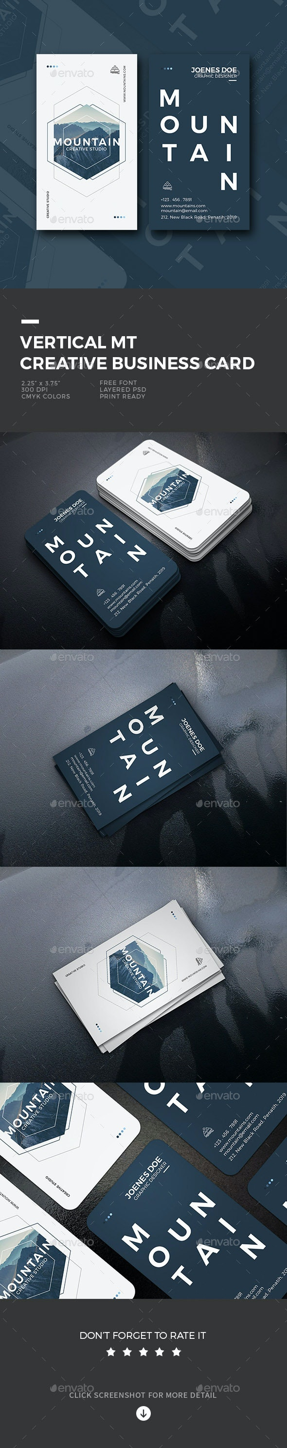 Vertical MT Creative Business Card - Business Cards Print Templates