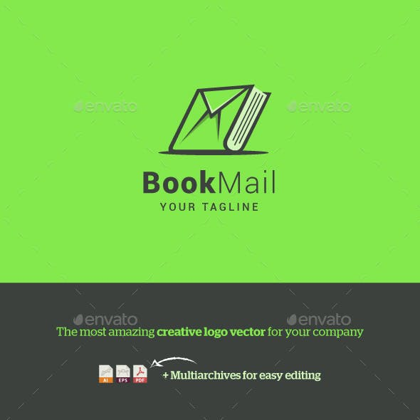 BookMail Logo Vector