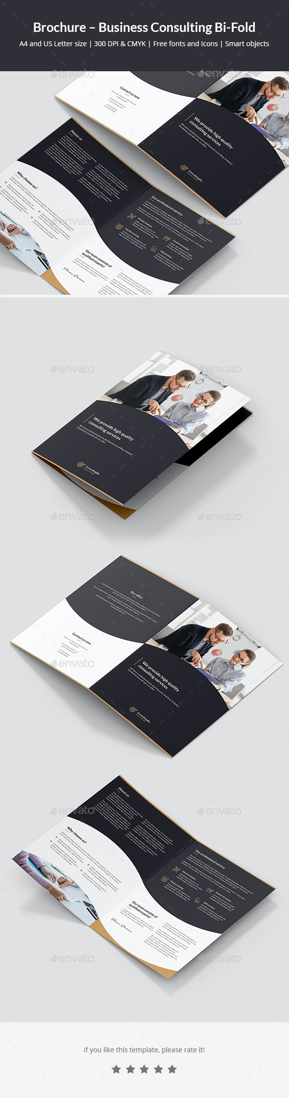 Brochure – Business Consulting Bi-Fold - Corporate Brochures