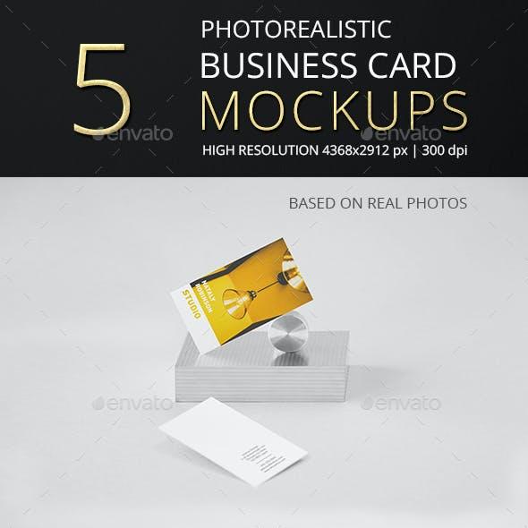 Photorealistic Business Card Mockup Vol 5.0