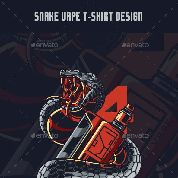 Snake Vape T-Shirt Design