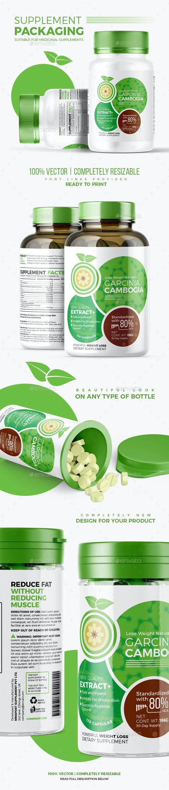 Supplement Packaging | Garcinia Cambogia #2 - Packaging Print Templates