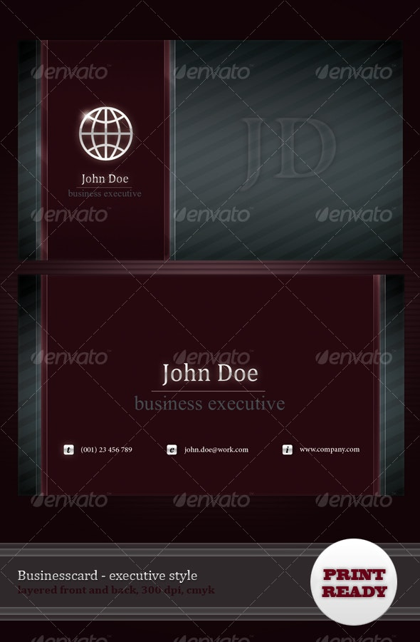 Business card - Executive style - Corporate Business Cards