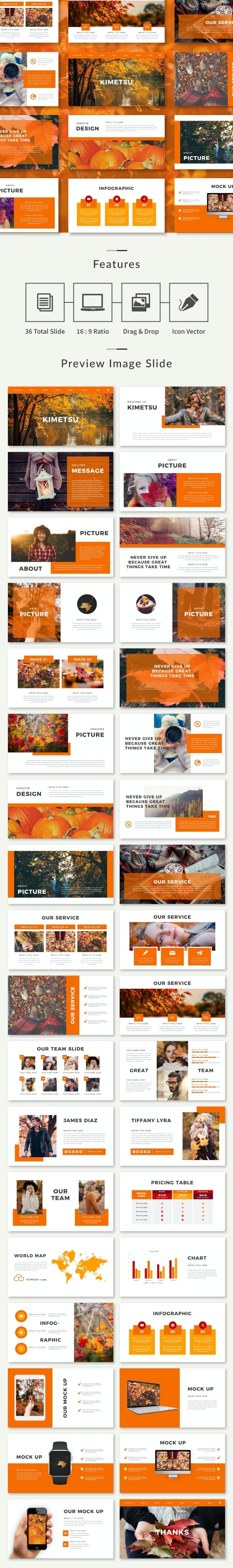 Autumn Multipurpose Keynote Template - Nature Keynote Templates