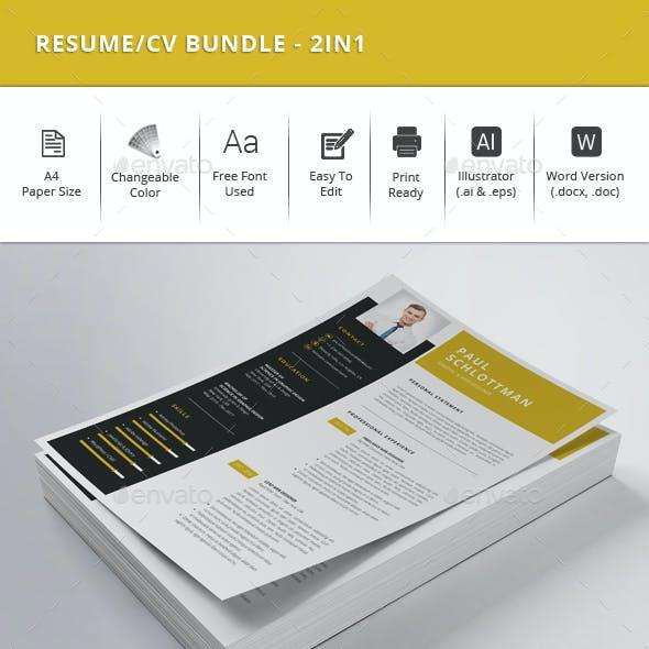 Resume/CV Bundle - 2in1