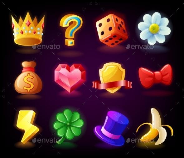 Colorful Slots Icon Set - Miscellaneous Vectors