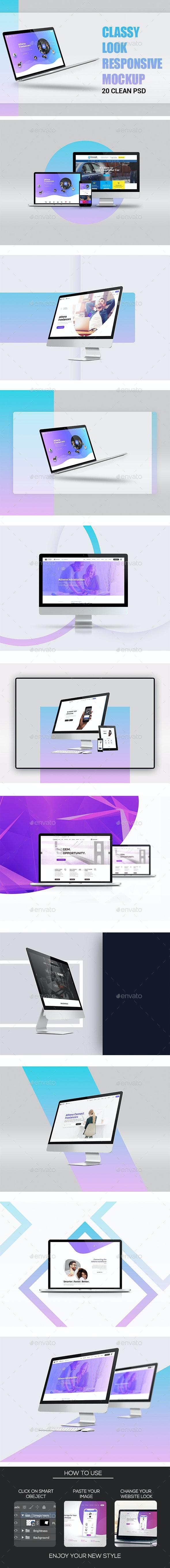 Realistic Laptop Mockup - Displays Product Mock-Ups