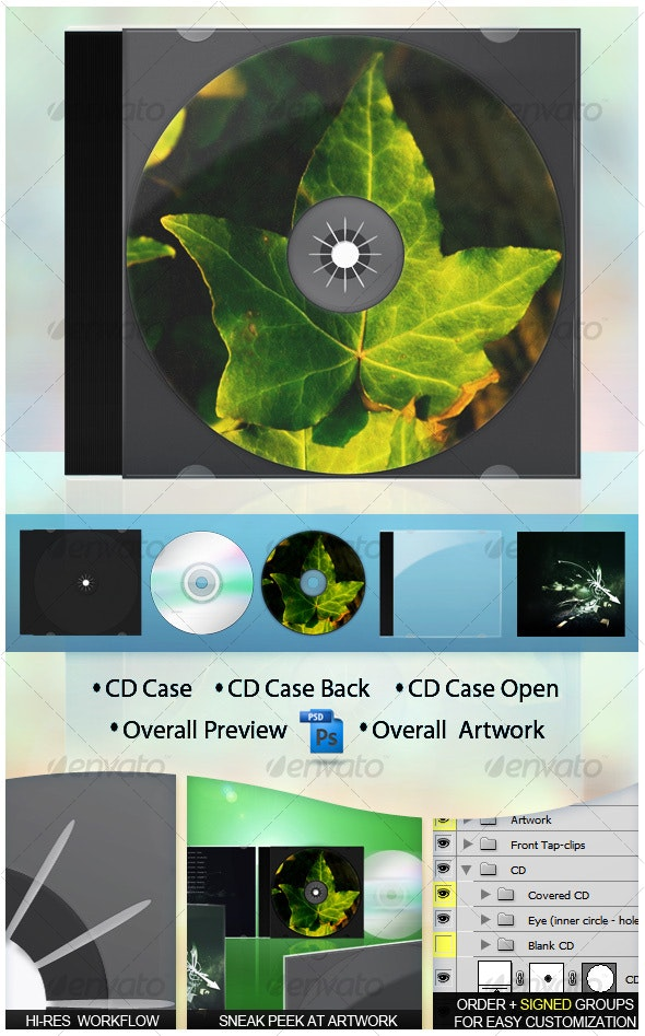 Realistic Modern CD Jewel Case - Discs Packaging