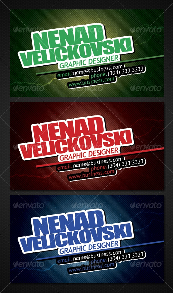 Business Card (3 Color Shemes) - Creative Business Cards