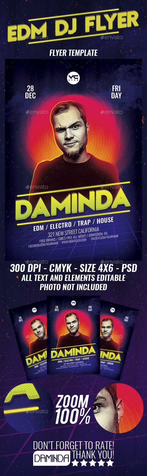 Electro Dj Poster 15 Flyer Template - Clubs & Parties Events