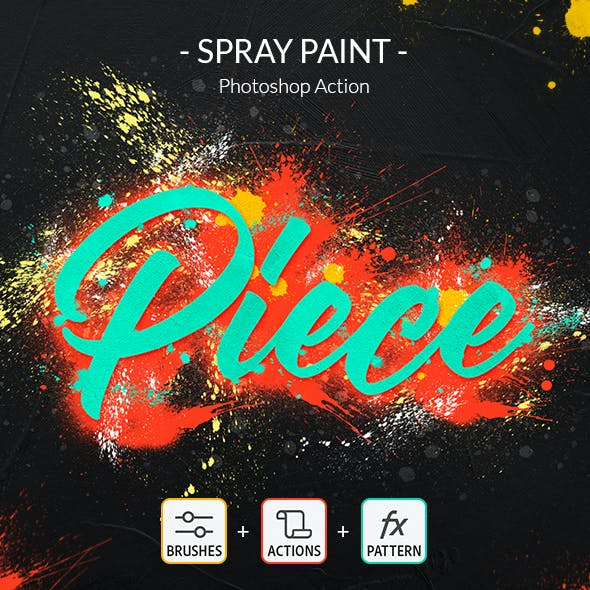 Spray Paint Photoshop Action