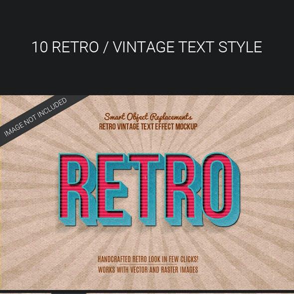 3D Retro Vintage Text Effects