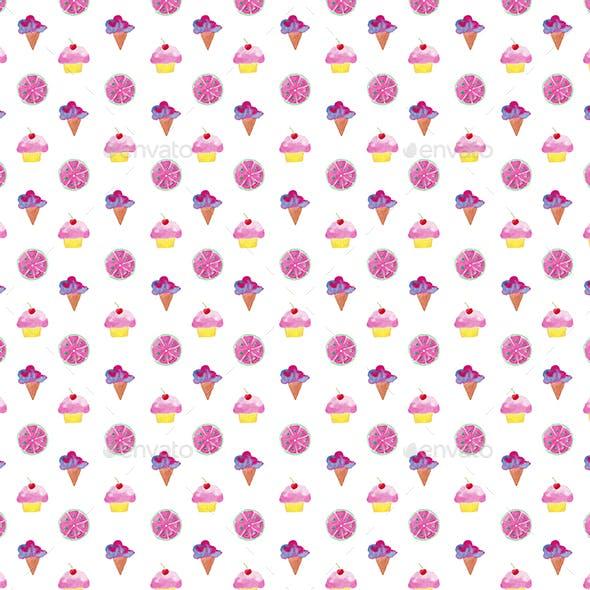 Watercolor Sweet 2 Pattern Illustration