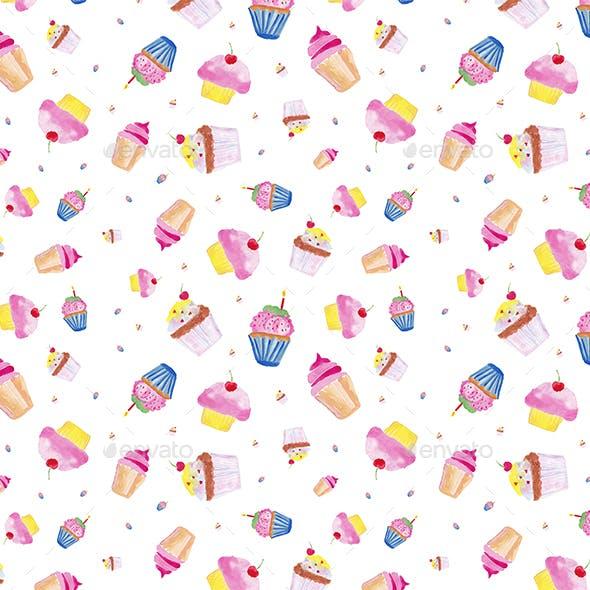 Watercolor Sweet 3 Pattern Illustration