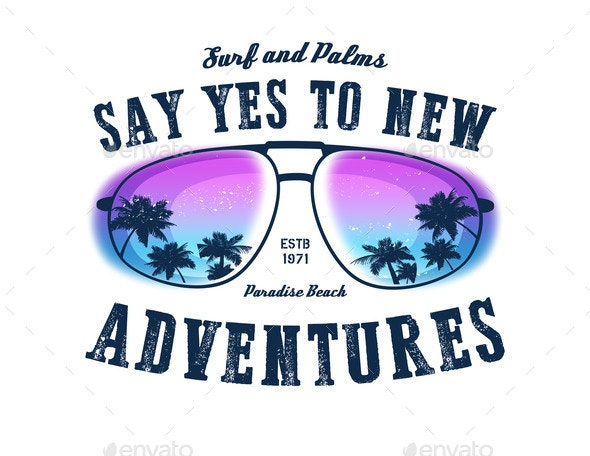 Say Yes To New Adventures Vector Background - Landscapes Nature