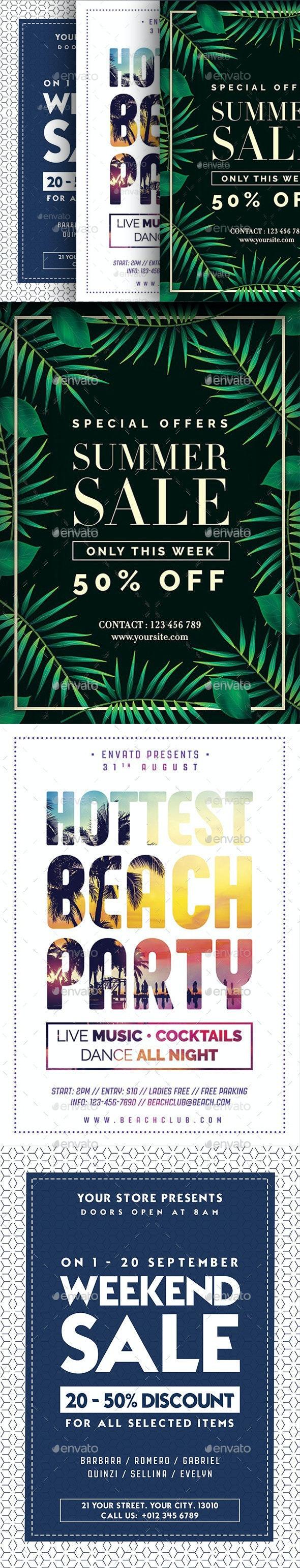 Summer Bundle Flyer - Flyers Print Templates
