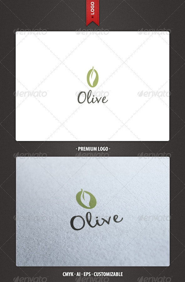 Olive Logo Template - Food Logo Templates