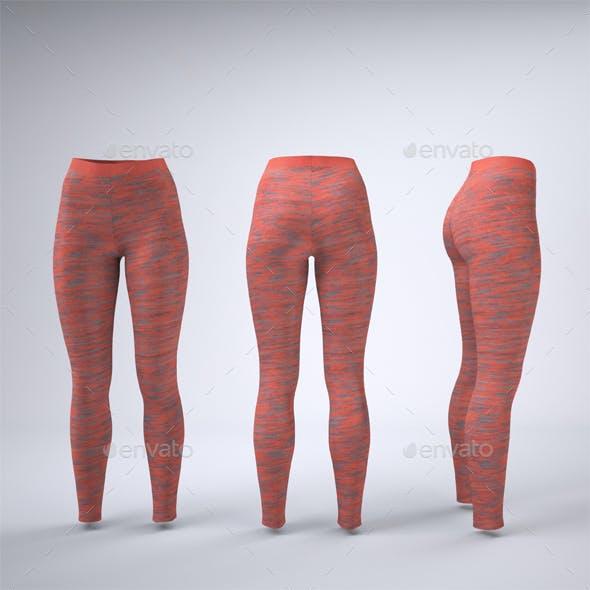 Leggings Tights Mock-Up