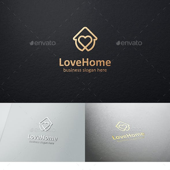 Love House Care Home Logo Template