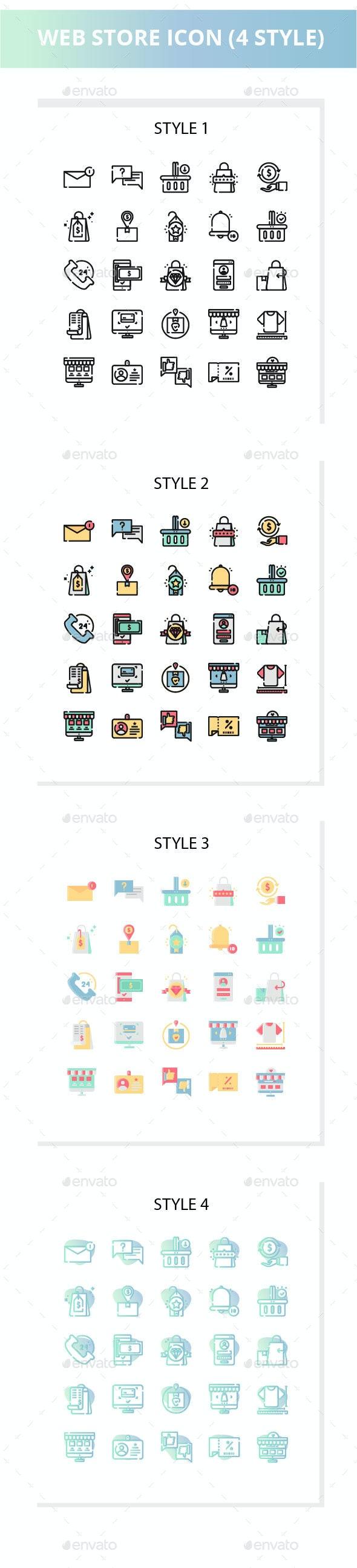 Web Store Iconset - Web Icons
