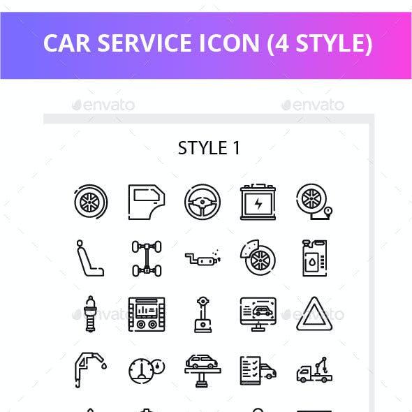 Car Service Iconset