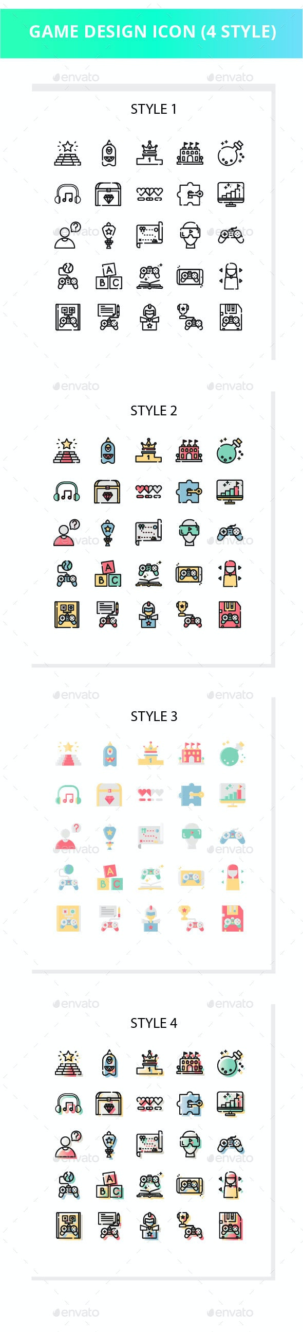 Game Design Iconset - Objects Icons