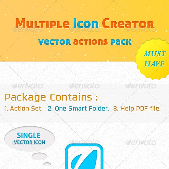 Multiple Icon Creator Actions