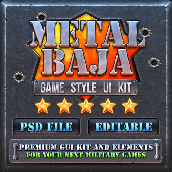 Metal Baja: Military Game GUI Kit