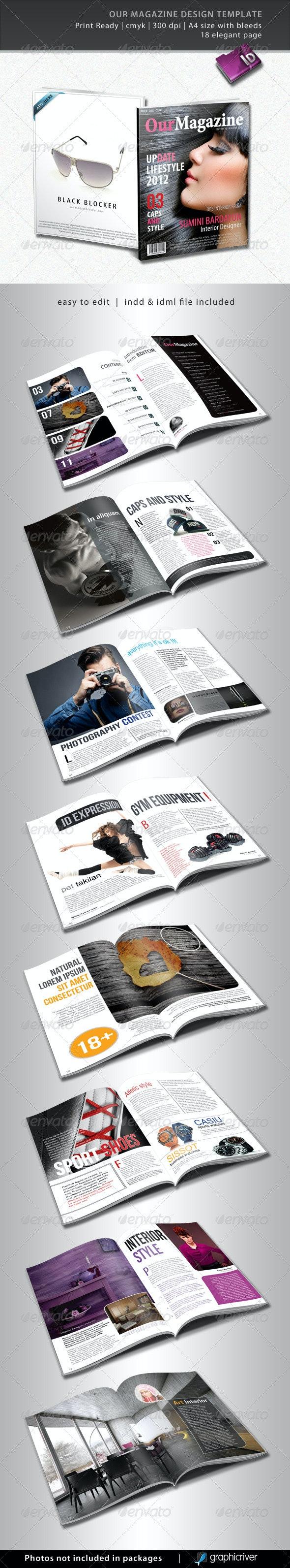 Our Magazine Design Template - Magazines Print Templates