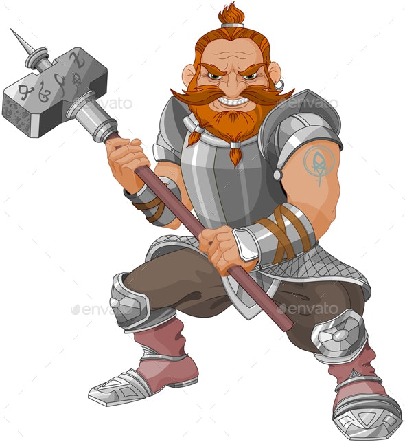 Fantasy Style Dwarf - People Characters