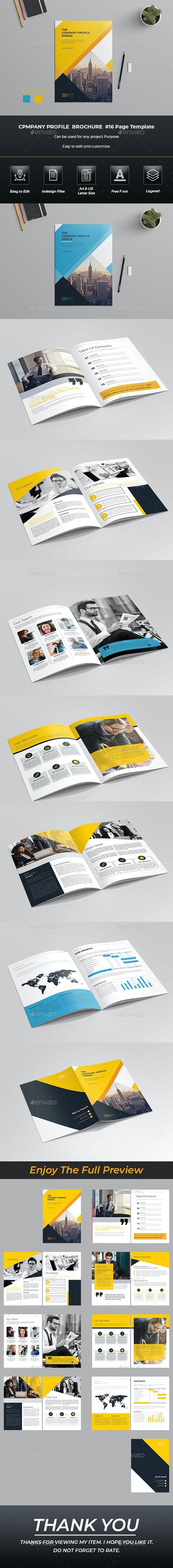 Company Profile Brochure Template Indesign - Brochures Print Templates